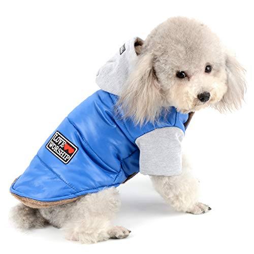 Zunea Winter Hundemantel Wasserdicht Fleece gefüttert Warm Puppy Hoodie Coat Sweatshirt Haustier Kleidung Kleine Hunde Girl Boy