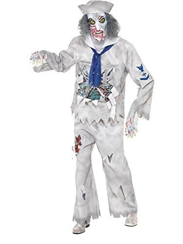 Smiffys Zombie Sailor Fancy Dress Costume Mens Size 38-40 S (Halloween)