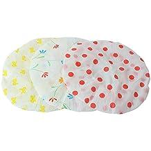 Merssavo 3x Damen Lady wasserdicht elastische Dusche Cap Bad Salon Hut Dot