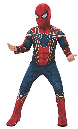 Rubie's Offizielles Avengers Iron Spider, Spiderman Deluxe Kinderkostüm, Größe L, Alter 8-10, Höhe 147 cm