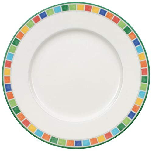 Villeroy & Boch Twist Alea Caro Assiette petit-déjeuner, 21 cm, Porcelaine Premium, Blanc/Multicolore