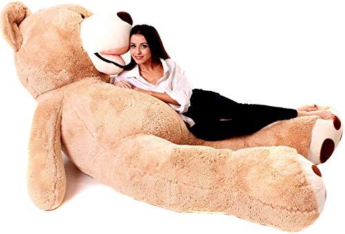 Teddybär Groß - Riesen Teddybären - Riesen Teddy 260 cm - Kuscheltier Für Babys - XXL Plüschtier Teddy Bär - Geschenk Freundin, Geschenkideen Zum Geburtstag, Kinder, Geschenke Zum Jahrestag - Braun