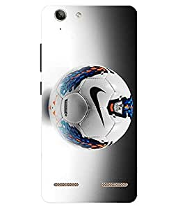 Make My Print Football Printed Grey Hard Back Cover For Lenov Vibe K5 Plus