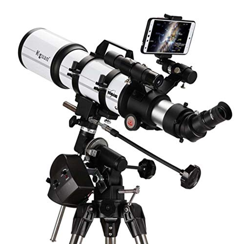 GGPUS Distancia Focal 600 mm, telescopio Refractor telescopio, película Verde Multicapa con Montaje ecuatorial, buscador de teléfono móvil Calibración coaxial de Estrella,Electric