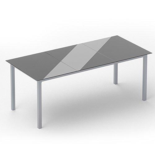 Alu Sitzgarnitur Gartenmöbel Set 9-teilig Garnitur Sitzgruppe 1 Tisch 190×87 + 8 Stühle - 6