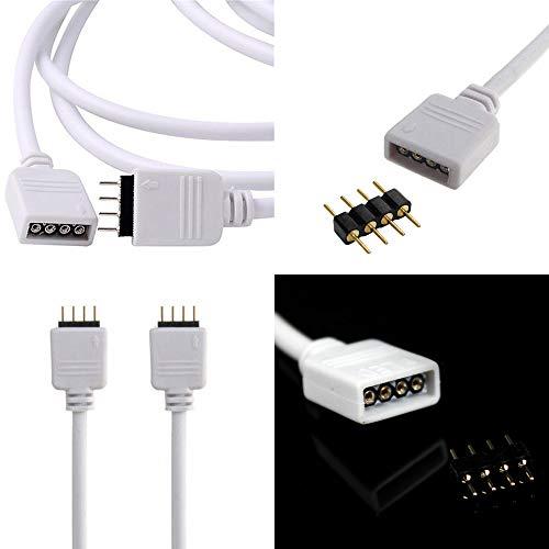 0,3m 0,5m 1m 2m 2,5m 3m 5m 10m 4 polig Schnell Verbindung Verlängerung Anschluss Daten Kabel Draht mit 4 Polig Connector für RGB SMD LED Licht Fee Beleuchtung Stripe Streifen (2m) -