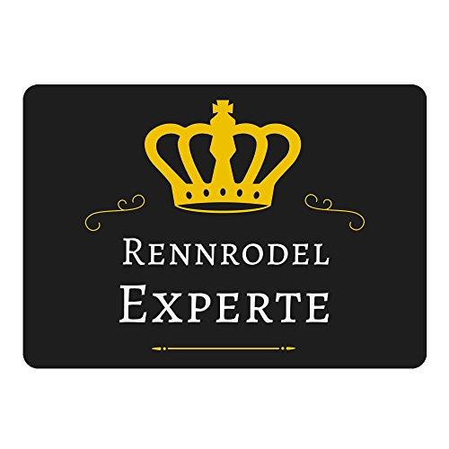 Mousepad Rennrodel Experte schwarz