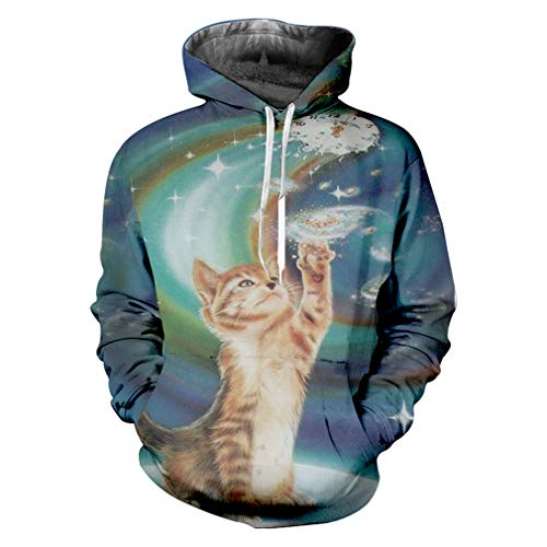 Männer Hoodies Hombre Hot Lose Animal3d Hoody Druck Paisley Katze Lustige Plus Größe 5XL Costume Homme Herbst Hoodies Paisley Cat XXXL