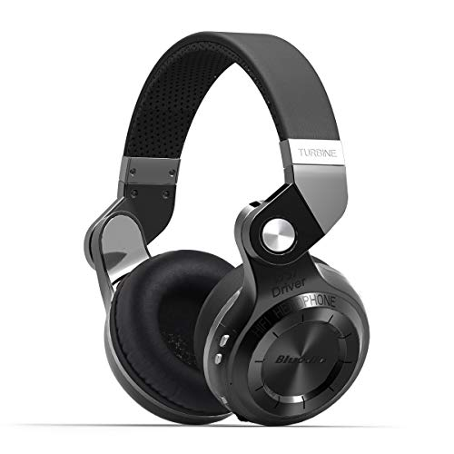 Bluedio T2S (Turbine 2 Shooting Brake), cuffie stereo wireless con Bluetooth 4.1, sovraurali, in confezione regalo (nero)