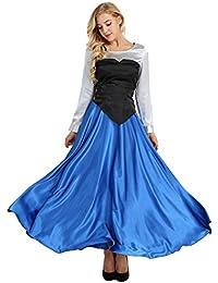 iiniim 3Pcs Disfraces Mujer de Princesa Fiesta Disfraz de Halloween Adulto Vestido Largo Vintage Mangas Largas