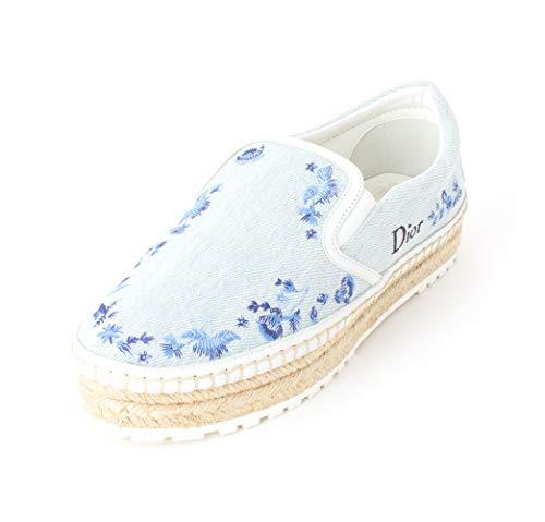 Christian Dior Frauen Prairie Fashion Sneaker Blau Groesse 6.5 US /37.5 EU