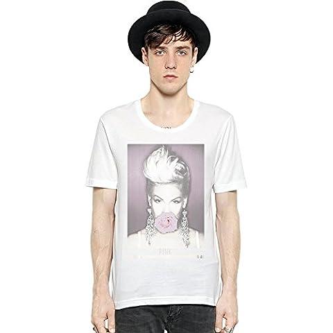 Pink - Pink Rose Short Sleeve Mens T-shirt