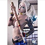 yhnjikl Margot Robbie Harley Quinn Suicide Squad New Art Wall Decor Stampa di Seta Poster 40X60Cm Senza Cornice