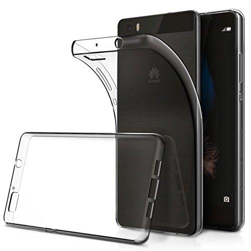 Conie Silkon Rückschale Transparent, Case Für Huawei P8 Lite - Flexibles Cover, Druckknöpfe Rutschfest, P8 Lite Durchsichtig Klare Schutz- Hülle