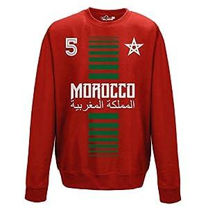 crewneck Pullover Sweatshirt manner National Sport Marocco Marokko 5 fussball Sport Afrika Stella 1 KiarenzaFD Streetwear