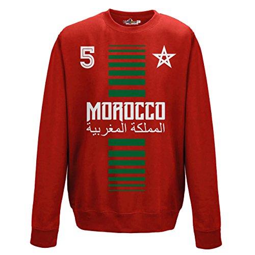 KiarenzaFD Crewneck Pullover Sweatshirt Manner National Sport Marocco Marokko 5 Fussball Sport Afrika Stella 1 M