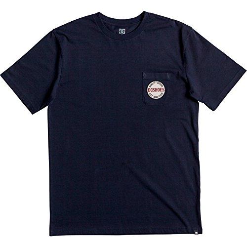 DC T-Shirt mit Brusttasche Junction Dark Indigo Dunkelblau