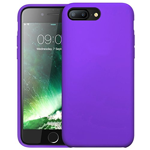 FIRST2SAVVV Nero iPhone 7 plus 5.5 Shock Assorbente Custodia, Apple iPhone 7 plus Case Custodia Shock-Absorption Bumper Cover e Anti-Graffio - XJPJ-I7-5.5-C01 viola silicio custodia