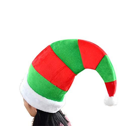 ZHRUI Weihnachtsneuheit Hüte Unisex-Nette Elfen-Hüte Cosplay-Partei-Nette Hüte (Farbe : Grün, Größe : Einheitsgröße)