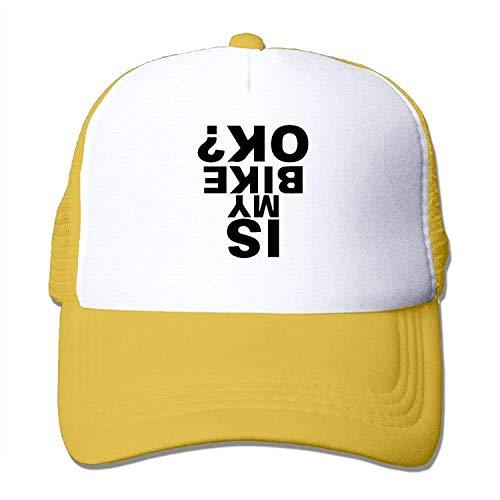 gthytjhv Two Tone Trucker Cap - is My Bike Ok - Adjustable Mesh Hat Comfortable