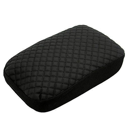 Ezzy Auto schwarz Leder Konsole Center Armlehne Deckel Cover Haut Displayschutzfolie Jacke für Dodge Ram Pickup - Pickup-konsole