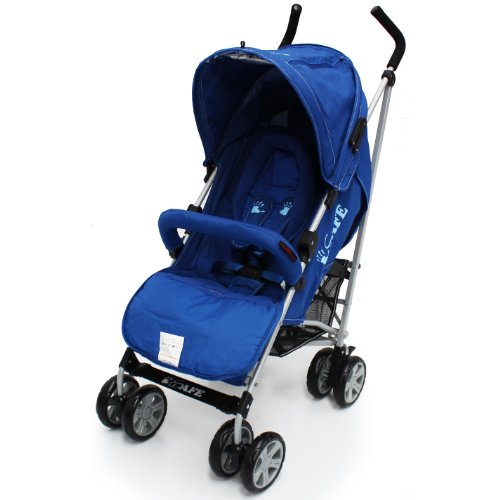 iSafe buggy Stroller Pushchair - Navy Complete With HeadSupport and Raincover (Bumper Bar Not Inluded)