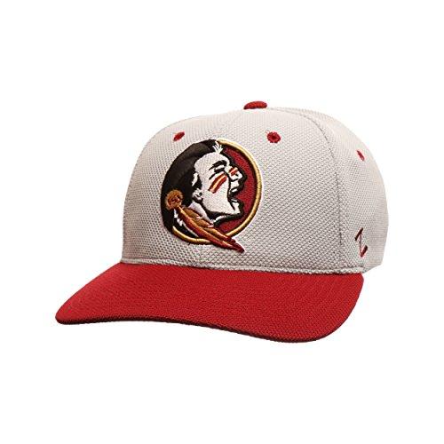 Zephyr NCAA Florida State Seminolen Herren Die Leichtathlet Performance Hat, Medium/Large, Grau/Kardinalrot