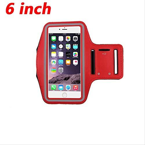 wasserdichte Sport Telefon Armband für Größe 6 '' Zoll läuft für iPhone XS Max Xr X Armband Fall Halter Universal MobileRed 6 Zoll Red Mobile