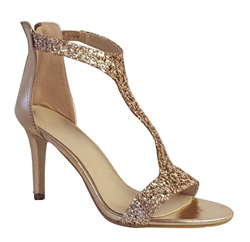 Shoe Box Boutique 0116 New Ladies T-BAR Heel Shimmer for sale  Delivered anywhere in UK