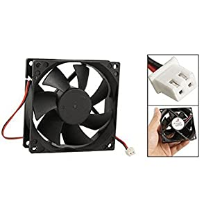 12V Black 80mm Square Plastic Cooling Fan For Computer PC Case
