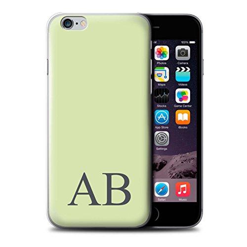 Personalisiert Pastell Monogramm Hülle für Apple iPhone 6 / Korallen Design / Initiale/Name/Text Schutzhülle/Case/Etui Grünes