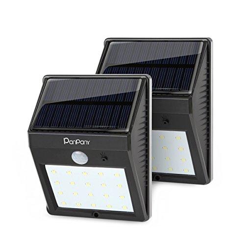 [2 pacchetto] solare esterna luce Panpany sensore di luce di sicurezza di movimento luci solare da giardino intelligenti con tre modalità solare impermeabile illuminazione esterna