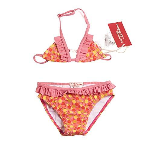 MINGFENG Badeanzug 4 PCS 3 in 1 Girls Polka Dot Bikini Kinder Bademode Beachwear, Größe: 10-12y (Rot) (Farbe : Red) -