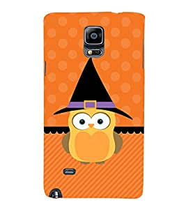 Cute Owl Hard Polycarbonate Designer Back Case Cover for Samsung Galaxy Note 4 :: Samsung Galaxy Note 4 N910G :: Samsung Galaxy Note 4 N910F N910K/N910L/N910S N910C N910Fd N910Fq N910H N910G N910U N910W8
