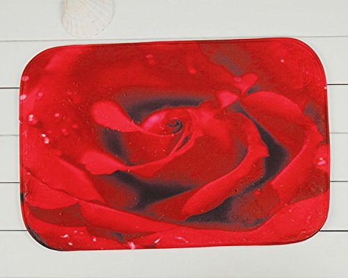 Tapis anti-dérapant en face de la chambre à coucher Maison Roses rouges tapis 40 * 60 cm