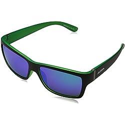 Alpina Sonnenbrille Sport Style KACEY, black matt-green, A8523332