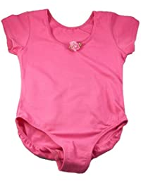 Little Girl Hot Pink Shortsleeve Ballet Dance Gymnastics Leotard 12M-8