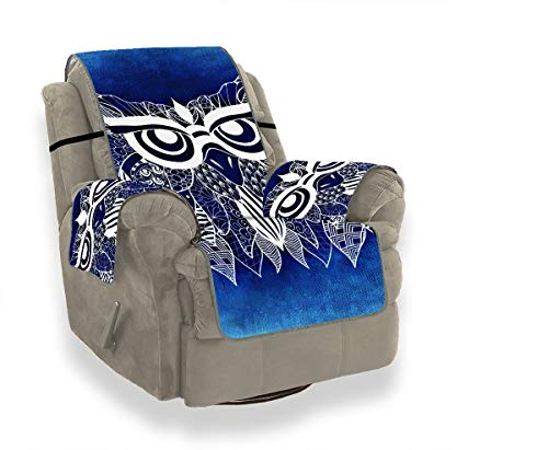 JEOLVP Owl Bird Abstract Funny 1014942 1-teilige Stretch Sofa Cover Stuhlhussen Mit Armen Moderne Sofakissen Möbel Beschützer Für Haustiere, Kinder, Katzen, Sofa -