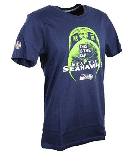 New Era Uomo Maglieria / T-shirt NFL Cap Classic Seattle Seahawks Blu
