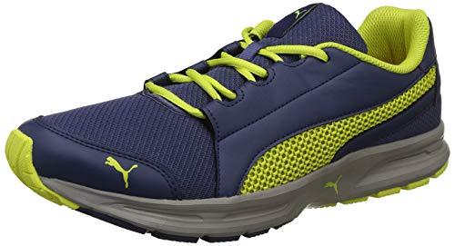 Puma Men's Sargasso Sea-Sunny Lime-Ash Running Shoes-10 UK/India (44.5 EU)(4059507960573)