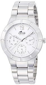 Lotus 15913/1 - Reloj de cuarzo para mujer, Correa de acero inoxidable