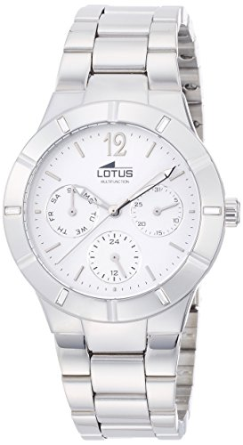 Lotus Women's Quartz Watch with Silver Dial Analogue Display and Silver Stainless Steel Bracelet 15913/1