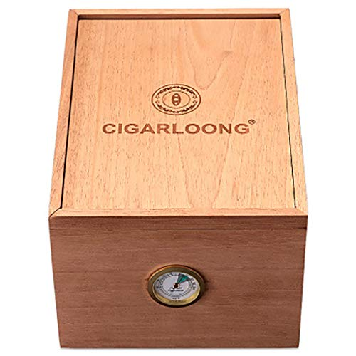 Lxc Zigarren Humidore Alkohol Zedernholz Große Kapazität Feuchtigkeitscreme Humidore Zigarrenetuis