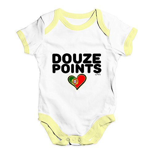 TWISTED ENVY Douze Points Portugal Baby Unisex Printed Infant Bodysuit Baby Grow