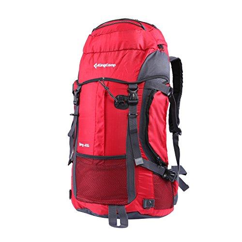 KingCamp Berg 40 Liter Camping Wandern Reise Rucksack Tasche Rot