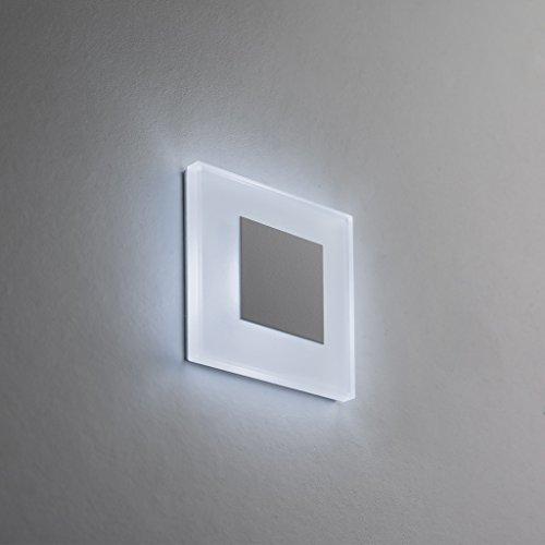 SET LED Treppenbeleuchtung Premium SunLED Small Kaltweiß 230V 1W Echtes  Glas Wandleuchten Treppenlicht Mit Unterputzdose Treppen Stufen Beleuchtung  ...