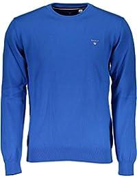 34e4a9ba79cb GANT 171.88201.406 Pullover Crew Neck Stretch Cotton OCEAN BLUE Girocollo  Uomo in 100%