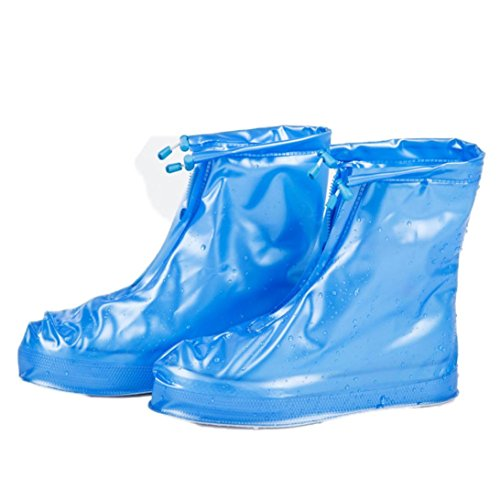 QHJ Waterproof Shoe Covers Anti-Slip Rain Boots Overshoes Protector for Unisex Adults