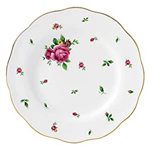 Royal Albert 20 cm-Assiette Vintage New Country Roses Blanc