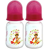 Mee Mee Premium Baby Feeding Bottle (Pack Of 2 - 125 Ml, Pink)